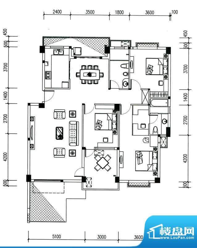 银滩万泉城二区13-1面积:151.23m平米