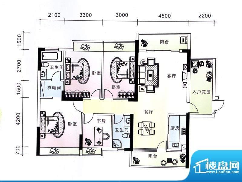 蓝海银湾2#二单元03面积:143.26m平米