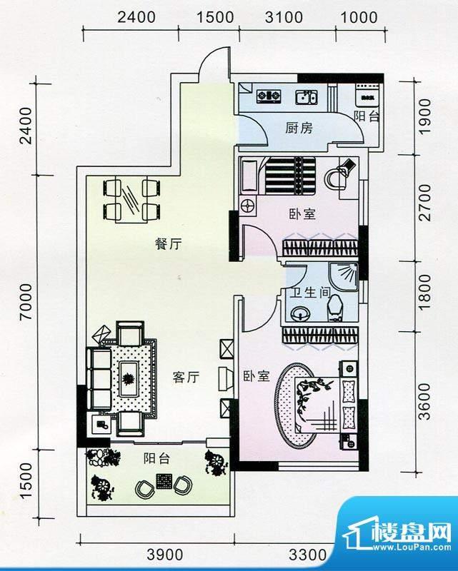 蓝海银湾3#一二单元面积:81.27m平米