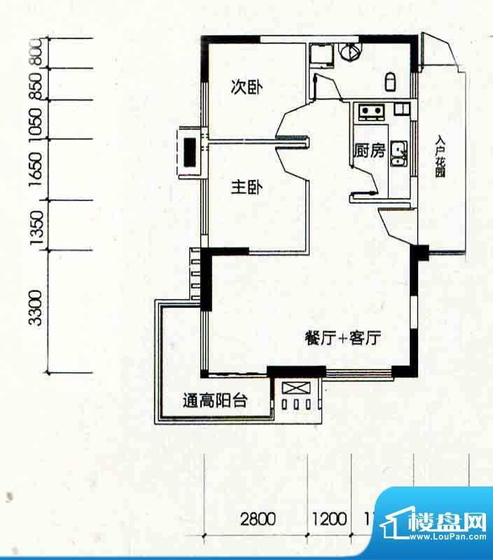 北海南岸4#02号房户面积:73.59m平米
