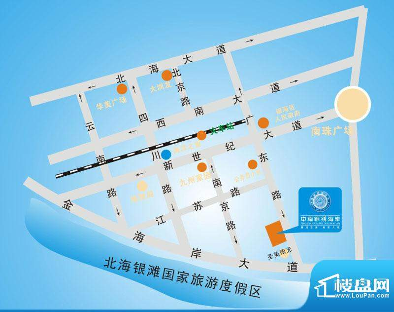 中南·锦绣花园交通图