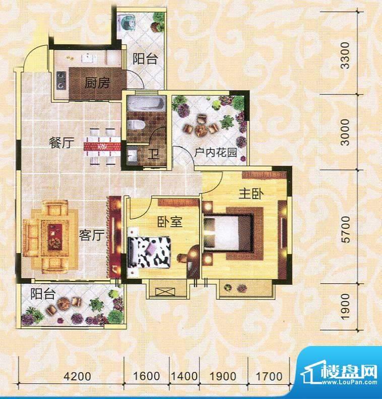 永翔·时代名苑3#楼面积:102.57平