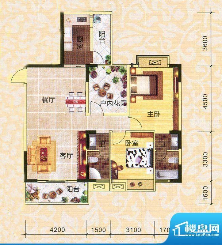 永翔·时代名苑1#楼面积:106.33平