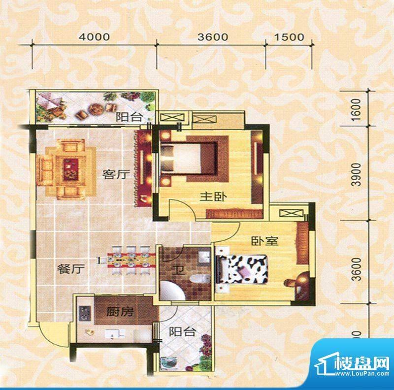 永翔·时代名苑3#楼面积:88.71平