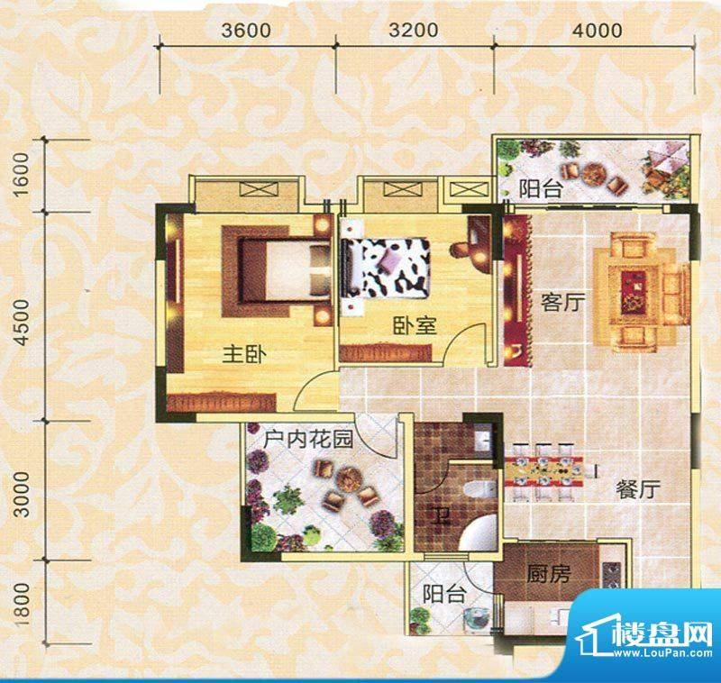 永翔·时代名苑1#楼面积:97.49平