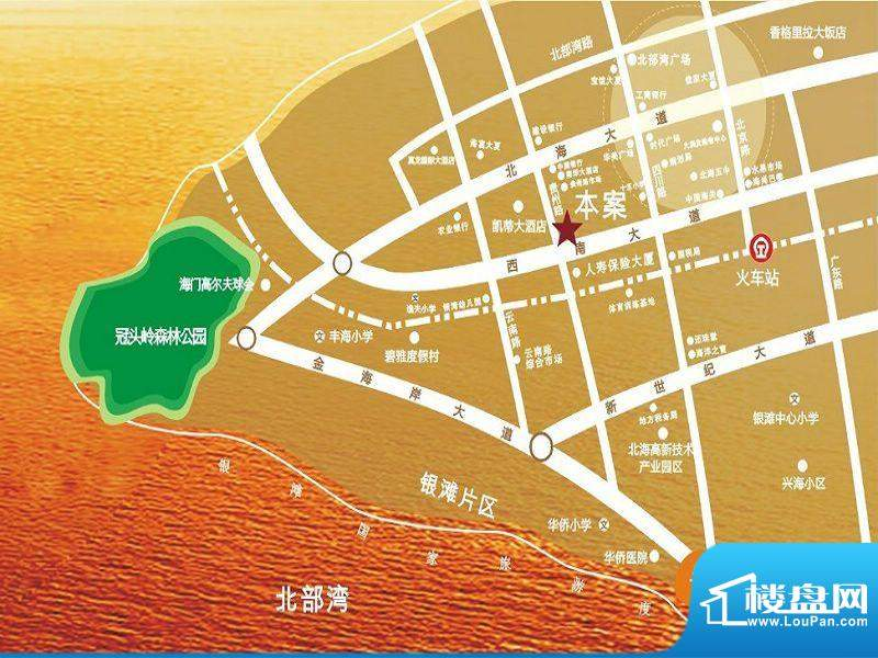 金领阳光交通图