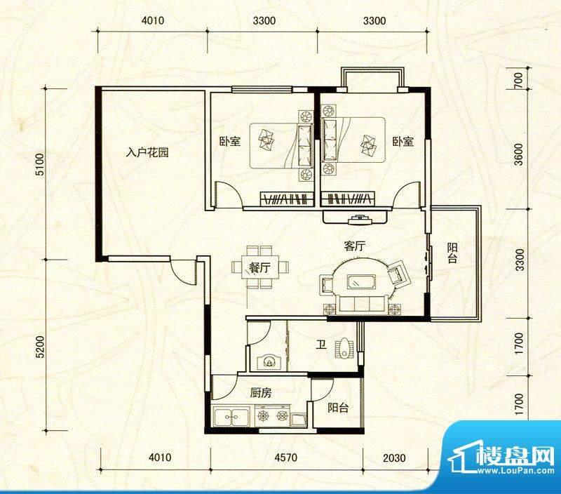 越亚·天赐碧园3栋0面积:90.17m平米