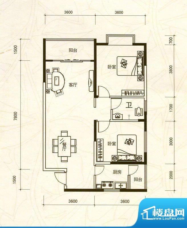 越亚·天赐碧园3栋0面积:88.09m平米