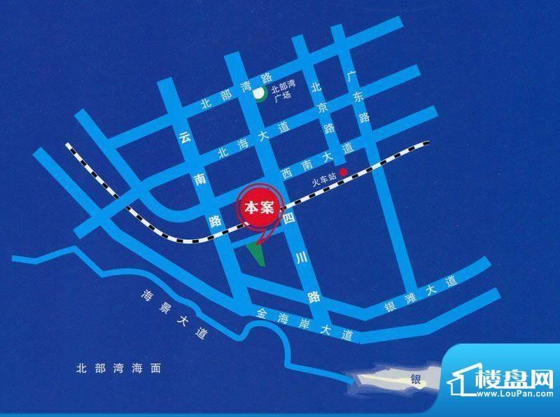 月亮河小区交通图