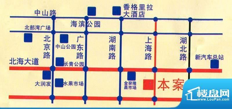蓝海国际交通图