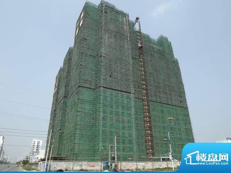 蓝海国际20110828项目施工进度:外墙装