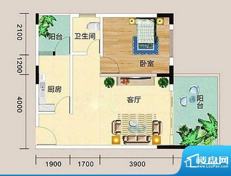 宏海花园B户型图