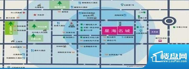 永高·星海名城一二期交通图