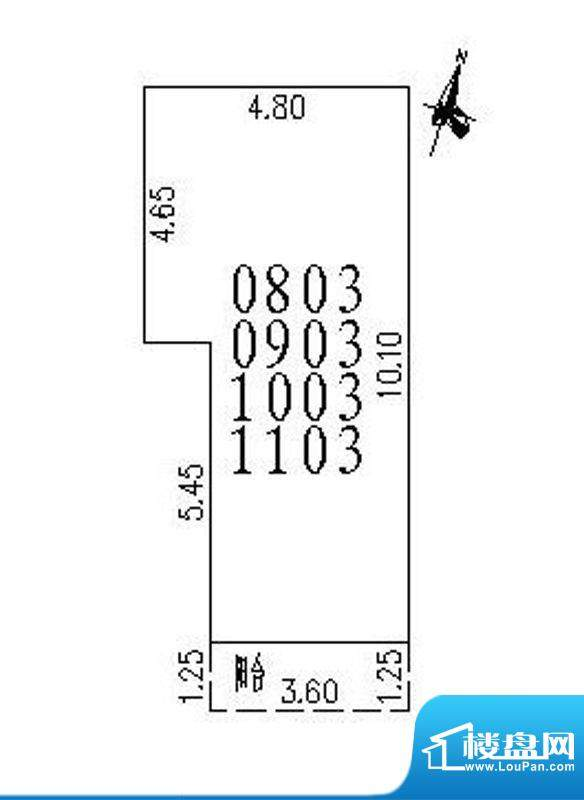 启东商务公寓一房户面积:57.69m平米