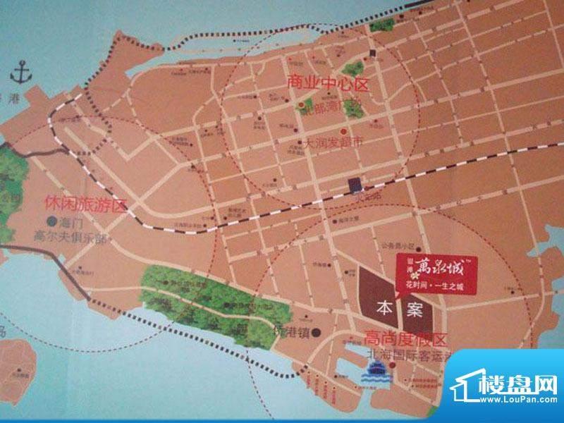 银滩万泉城一期交通图