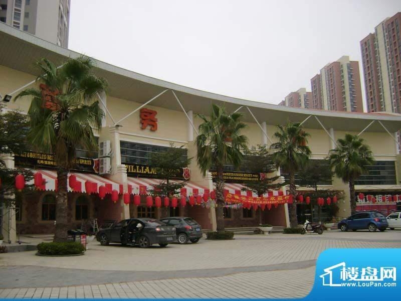 银滩万泉城小区售楼部外景20110126