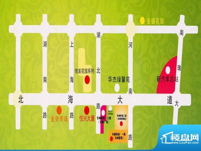 东峰广场交通图