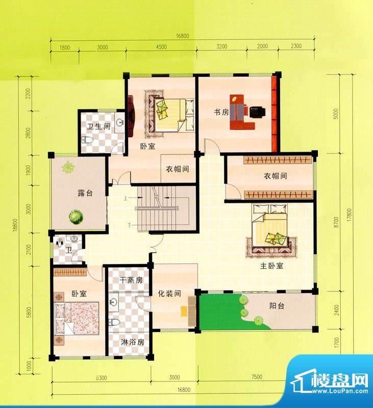 东峰广场F、G、H#二面积:513.33m平米