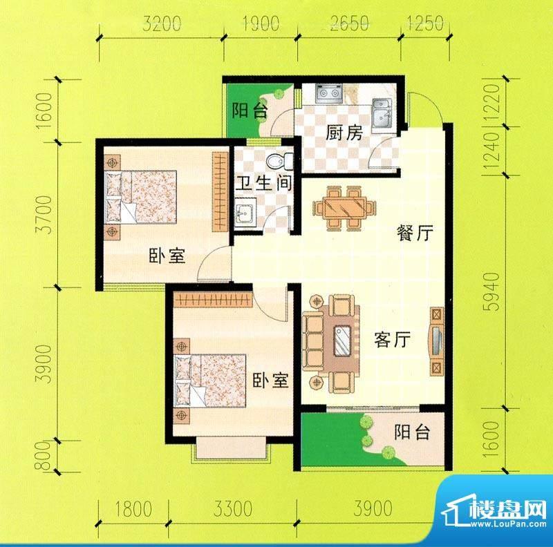 东峰广场A、B、C、D面积:86.45m平米