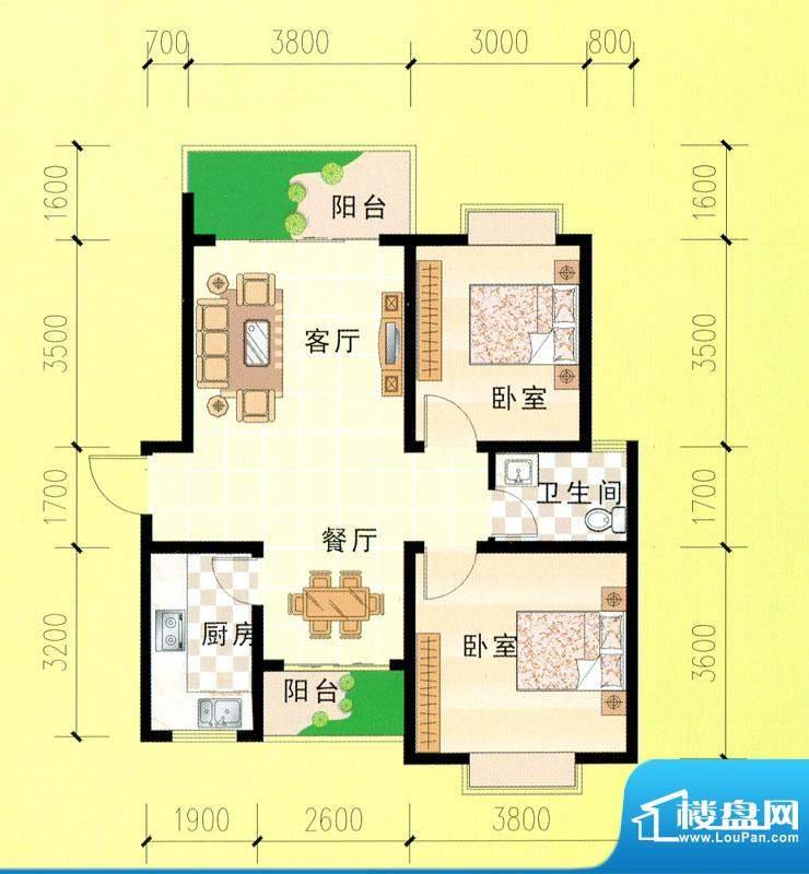 东峰广场A、B、C、D面积:85.11m平米