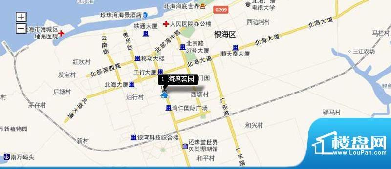 海湾茗园交通图