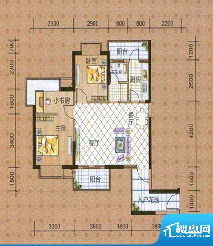 海湾茗园4号楼01、0面积:87.52m平米