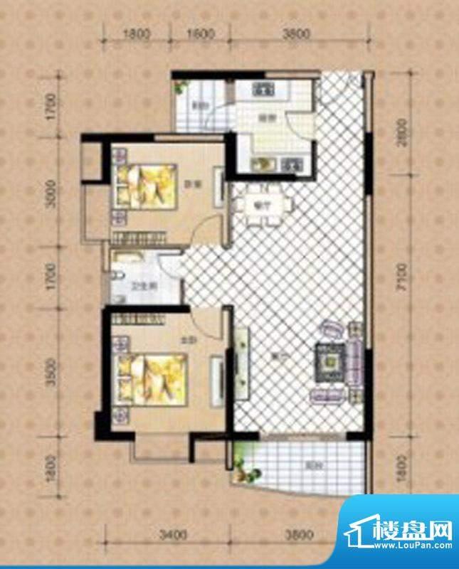 海湾茗园2号楼02、0面积:90.12m平米