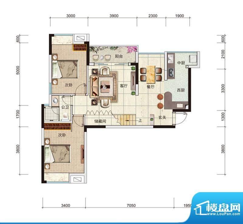 中安·止泊园YB3复式面积:139.85m平米