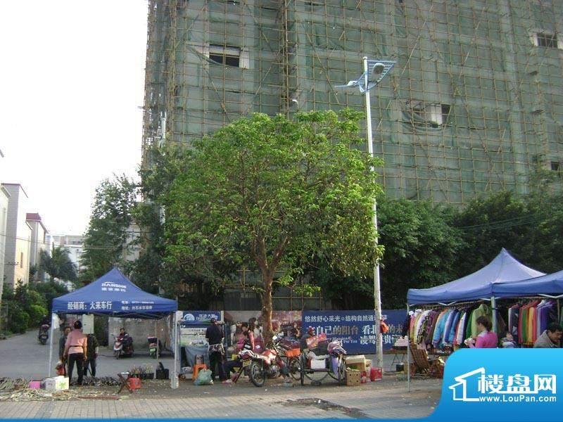 深港大厦小区沿街实景20101223