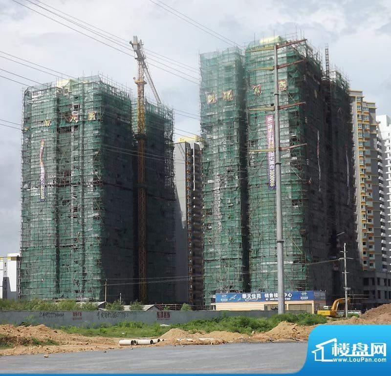 华天佳苑20110808项目施工进度:外墙装
