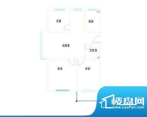 金都豪庭分户型-mod面积:0.00m平米
