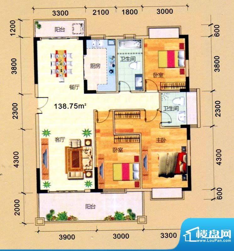 辰宸花园1单元01号/面积:138.75m平米