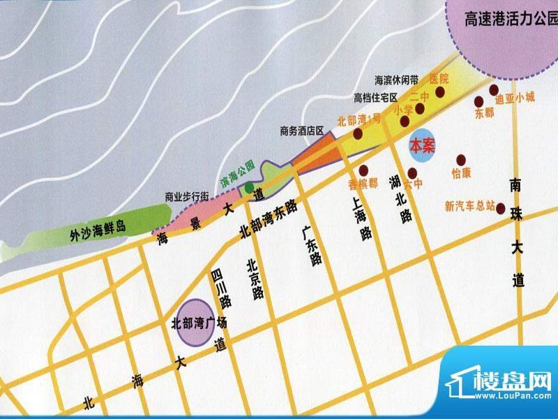 蔚蓝豪廷交通图