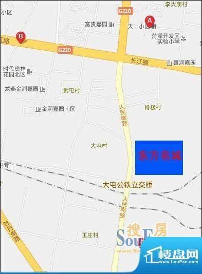 菏泽市东方名城交通图