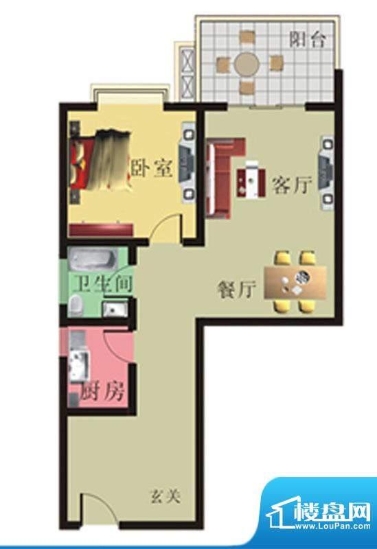 棕榈泉花园公寓4#、面积:79.29m平米