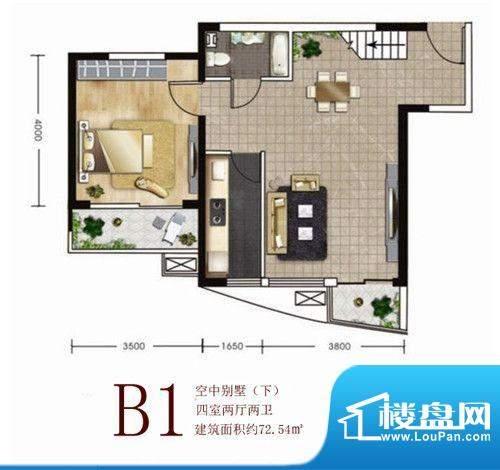 维多利亚港湾B1别墅面积:0.00m平米