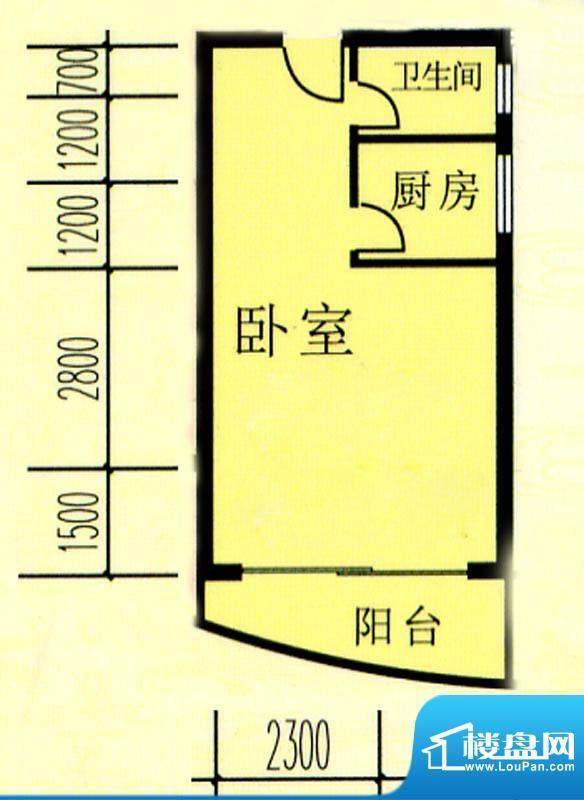 昌旭·璟苑一二单元面积:43.99m平米