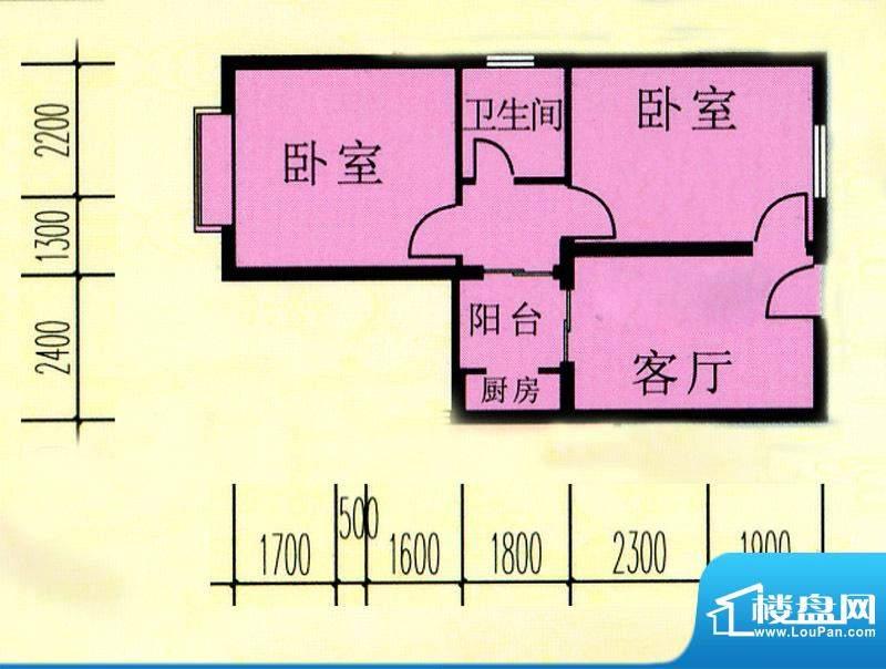 昌旭·璟苑一二单元面积:60.80m平米