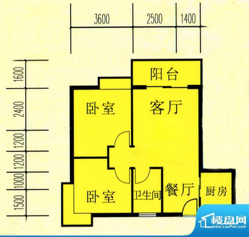 昌旭·璟苑一单元01面积:74.67m平米