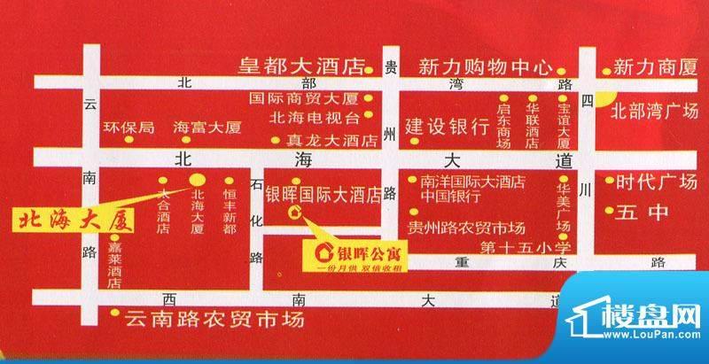银晖公寓交通图