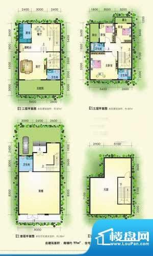 黄金海岸别墅区户型面积:0.00m平米