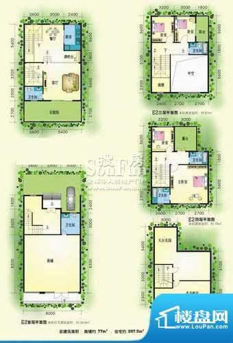 黄金海岸别墅区E2型面积:0.00m平米