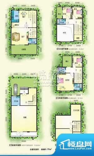 黄金海岸别墅区E3型面积:0.00m平米