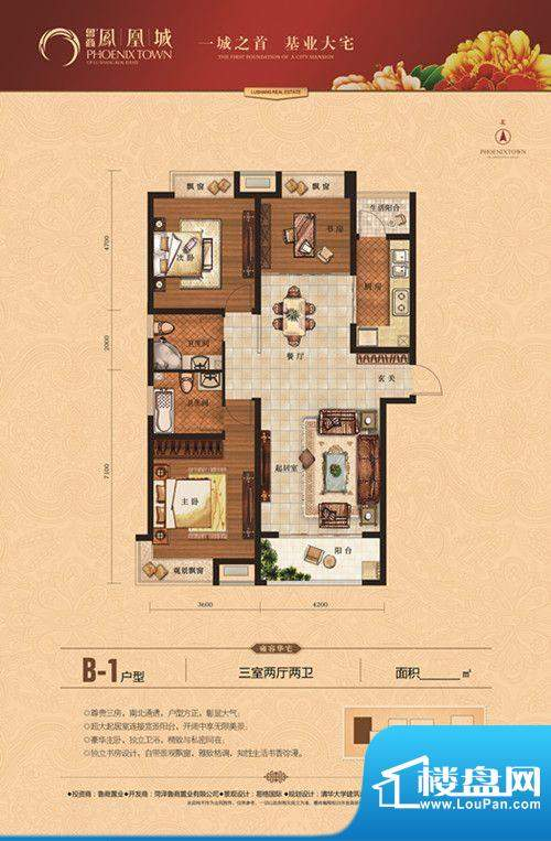 鲁商·凤凰城B-1户型面积:0.00m平米