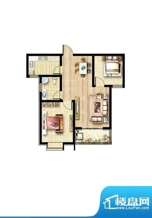 方信·嘉和苑D户型面积:0.00m平米