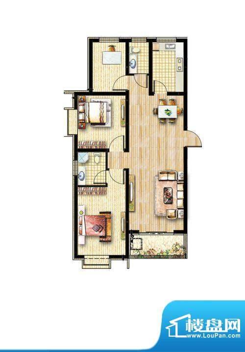 方信·嘉和苑E户型面积:0.00m平米