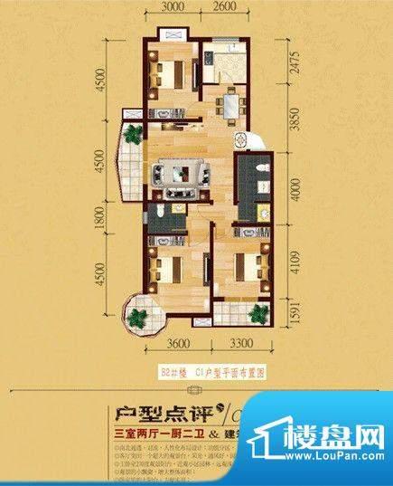 国色天香C1户型 面积:0.00m平米