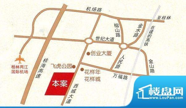 民鑫飞虎林居交通区位图