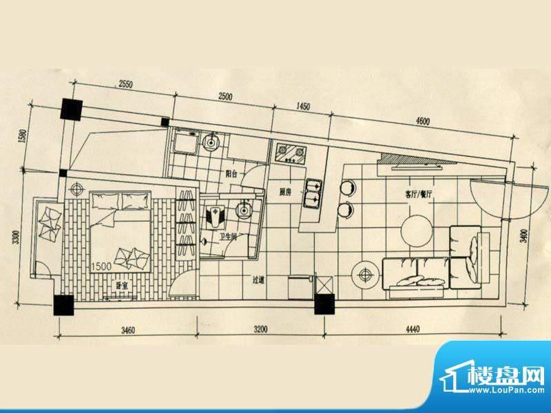 合美大楼标准层E户型面积:0.00m平米