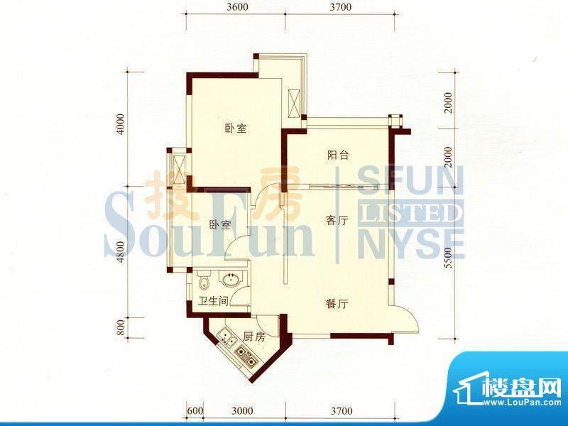 碧海蓝天公寓01/14套面积:71.10m平米